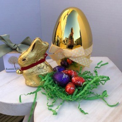 Chocolate Filled Gold Easter Egg