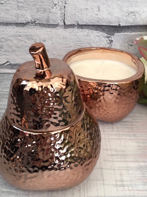 Bronzed Dimple Pear Candle