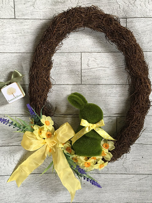 Bespoke Easter Egg and Bunny Wreath
