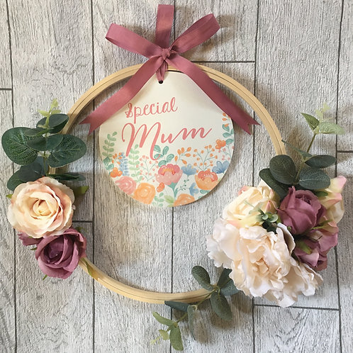 Special Mum Bespoke Artificial Floral Wreath