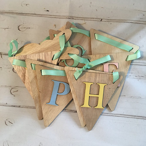 Wooden Happy Easter Bunting