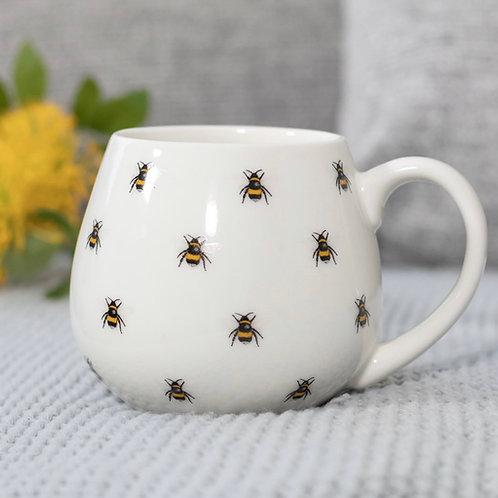 Bee Print Rounded Mug