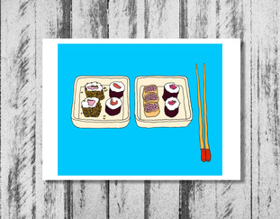 Two Plates of Sushi