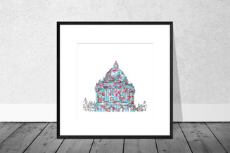 The Radcliffe Camera, Pink and Blue