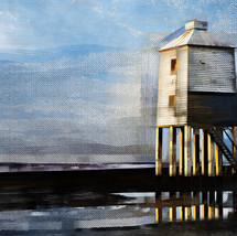 The Lighthouse (Lanscape View) at Burnham on Sea