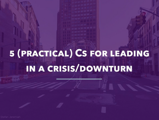 5Cs of Crisis...Five Practical Pillars to Keep You and Your Company Healthy...