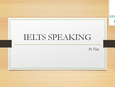 IELTS SPEAKING - By Ting - 20210422