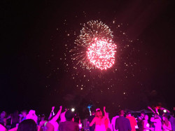 DJing under fireworks at the Marriott Frenchmans Reef for New Years Eve and a group of 2,000