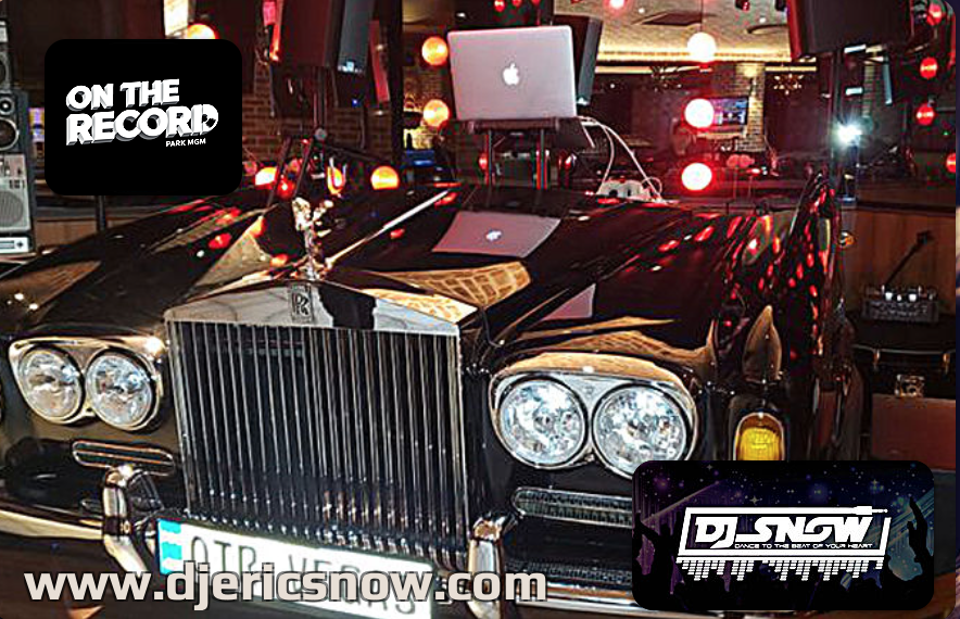 """DJing an event at """"On The Record"""" Las Vegas"""