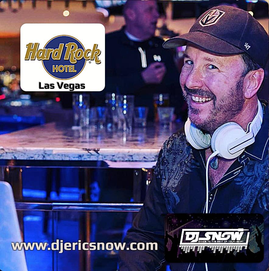 DJing one of my regular gigs at Hard Rock, Las Vegas