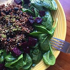Red Quinoa & Hummus Salad