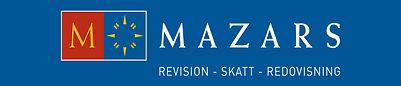M&F_-_Logotyp_Mazars_blå_bakgrund_30x140