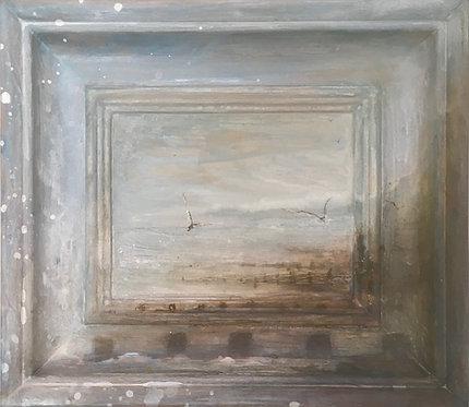 sussex seaside, sea painting, eastbourne beach, brighton beach, brighton artist, sussex seacape