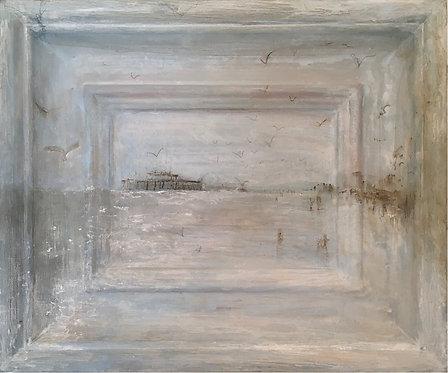 'Brighton Blue' framescape painting