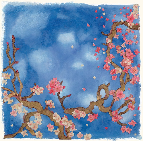 Blossom Branches, Spring picture, spring in the air, blue skies,  giclee print