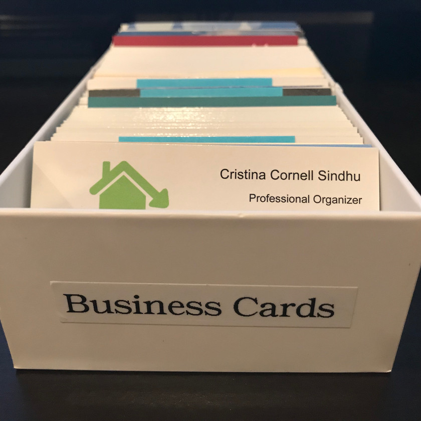 Business cards organized by Solutions for Stuff