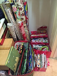 Gift wrap and bags organized by Solutions for Stuff
