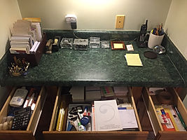 Desk and drawers organized by Solutions for Stuff