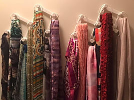 Hanging scarves organized by Solutions for Stuff