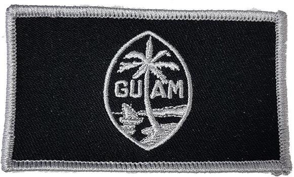 Silver & Black Guam Flag Shoulder Patch