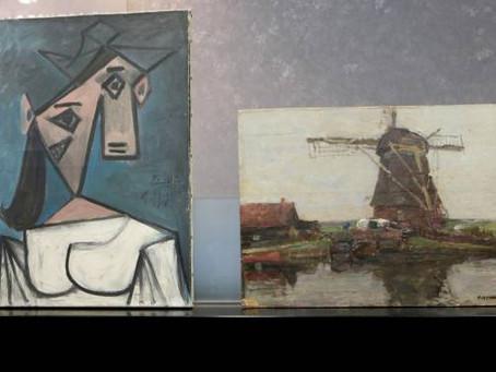 Uma obra de Picasso e outra de Mondrian são encontradas!