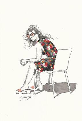 Mulher na cadeira