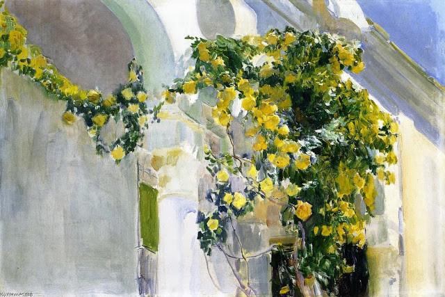 """""""A Roseira Amarela"""" J. Sorolla (1920)"""