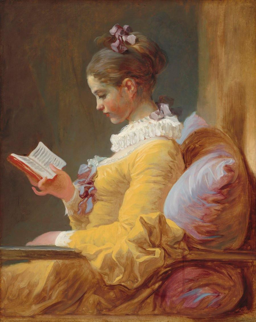"""""""A Leitora""""  1770-1772 – Jean-Honoré Fragonard"""