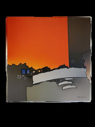 Abstrato laranja com cinza