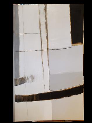 Díptico Abstrato - Cinza Detalhes Dourados II
