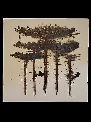 Araucárias - II (fundo bege)