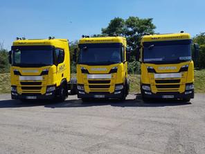 Arrivée de 5 tracteurs Gaz et 2 porteurs Gaz