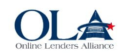 Statement from CEO of Online Lenders Alliance
