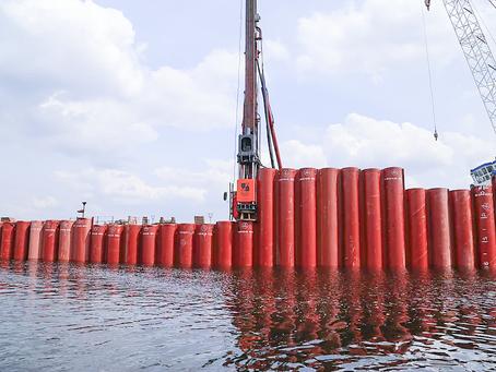 Свайные гидромолоты РОПАТ в гидротехническом строительстве
