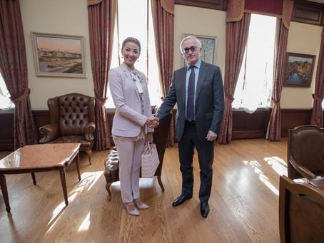 Встреча Натальи Ротенберг в РСПП с Господином Шохиным