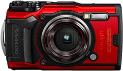 This is the image of Olympus TG-6 Red camera.