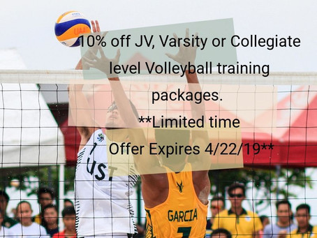 Save on Volleyball Training Packages. Sign up today!
