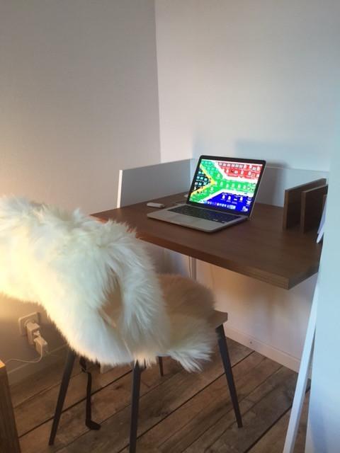 Schriebtisch im Elternschlafzimmer