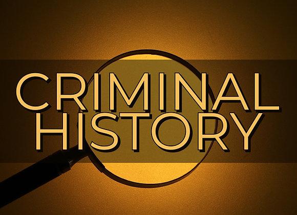 Criminal History Report
