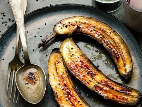 Banane in padella con salsa al rum