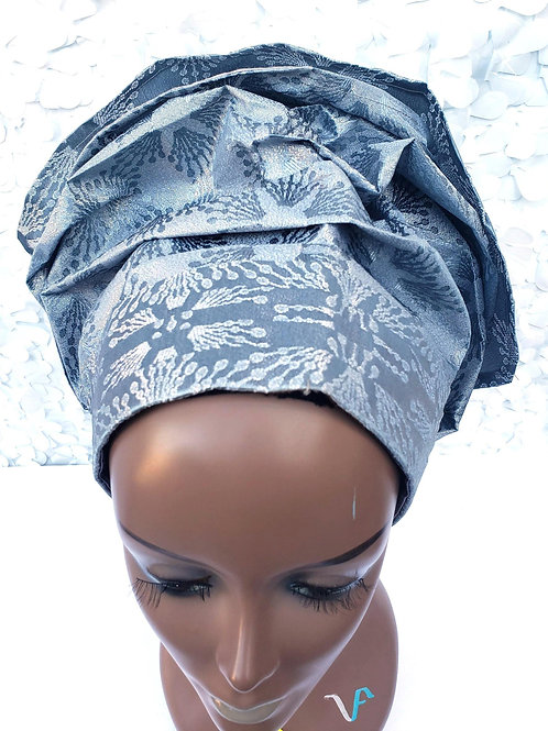 Grey Gele Hat