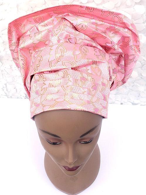 Pink Gele Hat