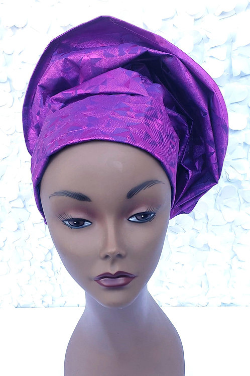 Royal Purple Gele Hat
