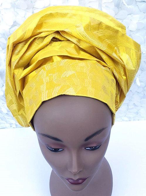 Yellow Gele Hat