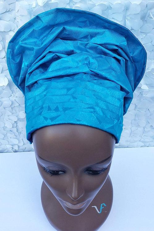 Aqua Gele Hat
