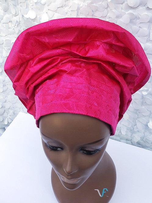 Dark Pink Gele Hat