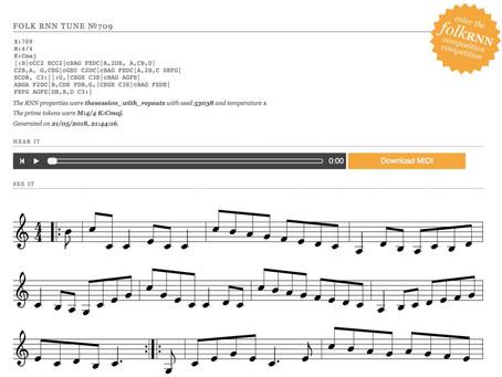 アイリッシュフォークのAI自動作曲サイト