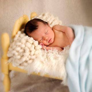 foto bebé en camita
