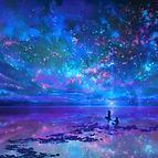 Starry Sky Lilac 140 by 1400 for Band Ca