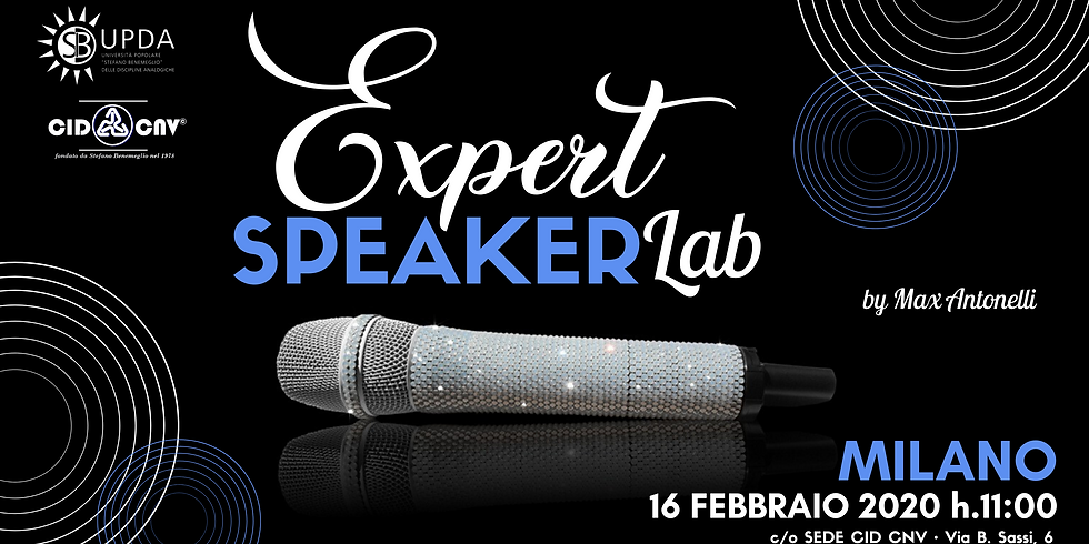 EXPERT SPEAKER LAB • evento riservato ad ANALOGISTI e TRAINER ANALOGICI (e futuri tali)